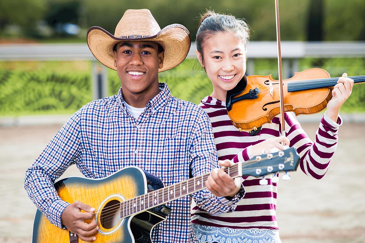 Guitar Player and Violin Player